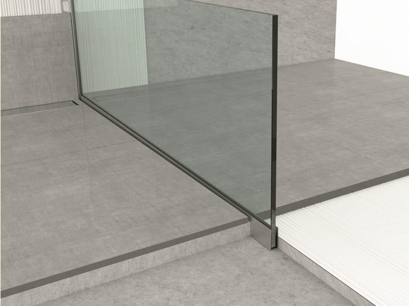 Aluminium edge profile for floors GLASS PROFILE GU by PROFILPAS