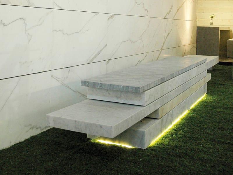 Panca in marmo senza schienale SLIDE 01 by FranchiUmbertoMarmi