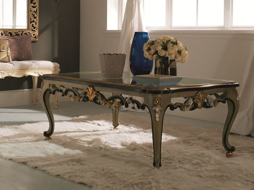 Rectangular wooden coffee table for living room 3519   Coffee table for living room by Grifoni Silvano