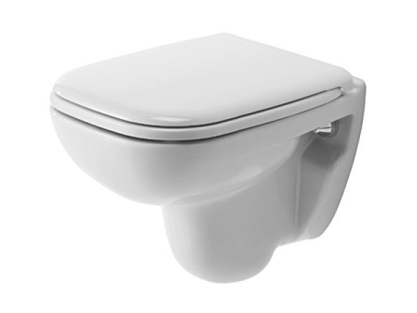 Compact wall-hung ceramic toilet D-CODE | Wall-hung toilet by Duravit