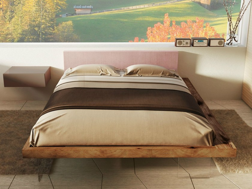 Double bed with upholstered headboard FRAME by Lago