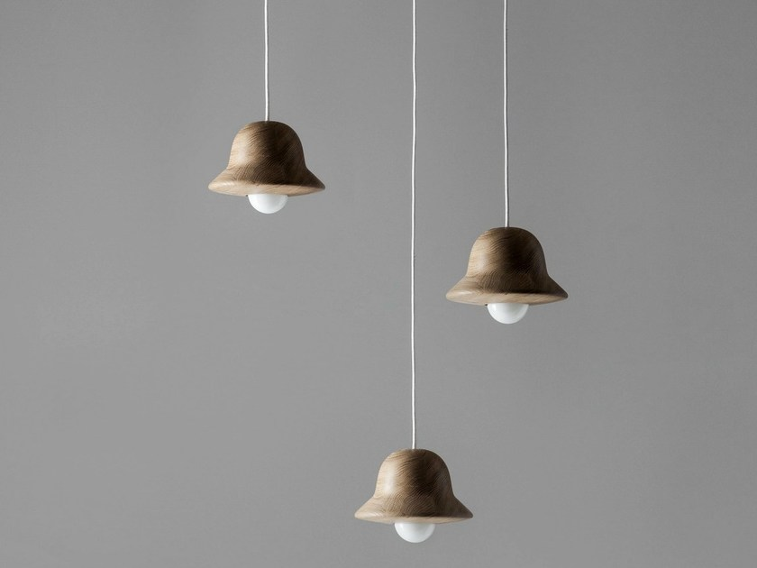 Wooden pendant lamp HAT by Ex.t