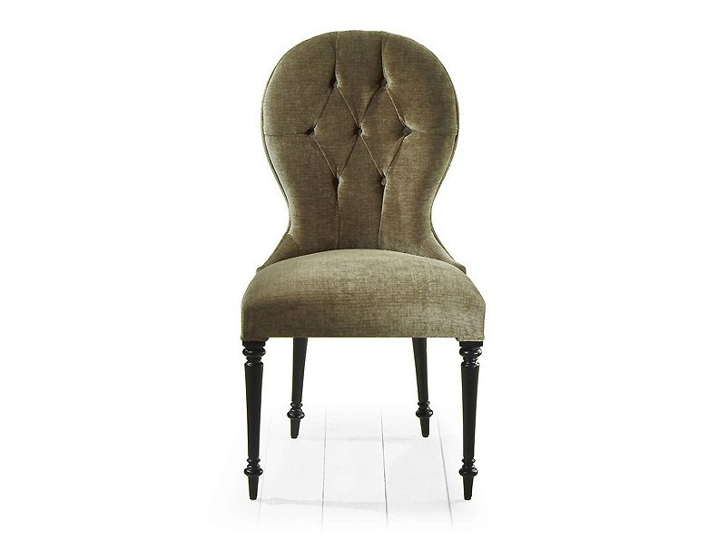 Tufted upholstered fabric chair PARK | Upholstered chair by MARIONI