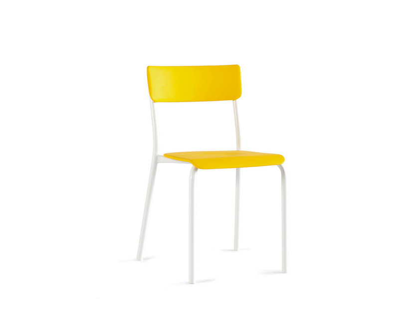 Imitation leather chair SCHOOL | Chair by Lago