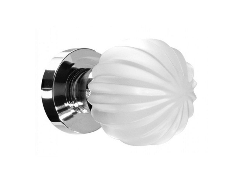 Crystal door knob with brushed finishing MARGHERITA SATINATO by Glass Design