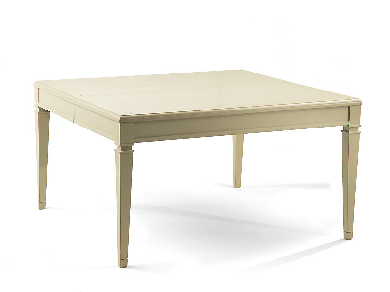 Extending square solid wood table BERLINO | Square table by MARIONI