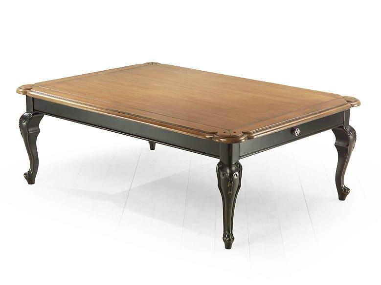 Rectangular wooden coffee table RIVOLI | Rectangular coffee table by MARIONI