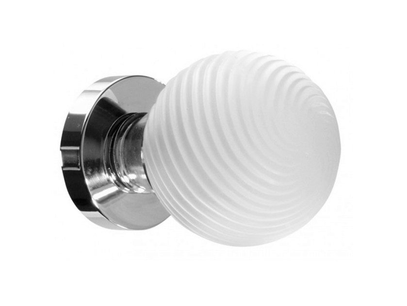 Crystal door knob with brushed finishing TORCIGLIONE BRUSHED by Glass Design