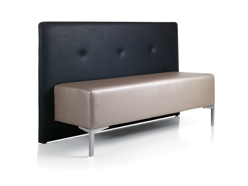 Imitation leather bench seating with back BUBU 2 by Gamma & Bross