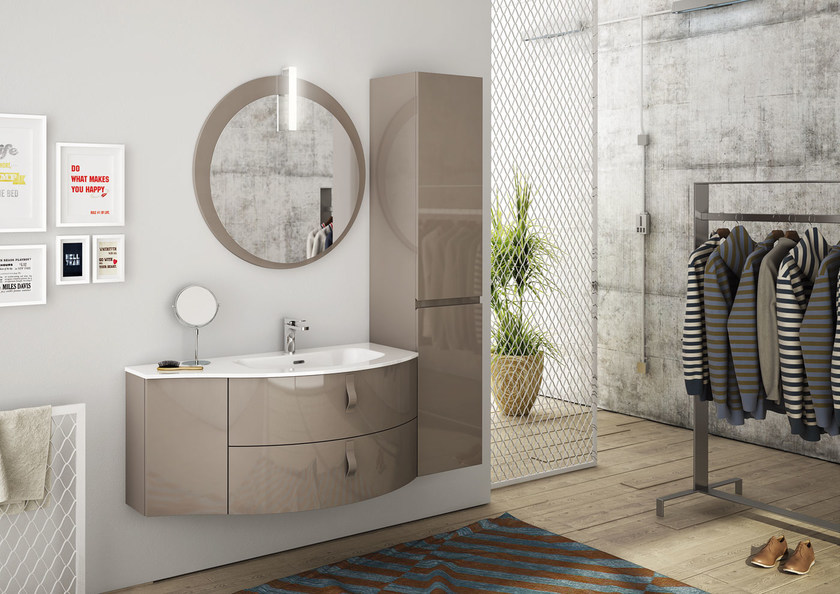 Sectional single vanity unit FREEDOM 04 by LEGNOBAGNO