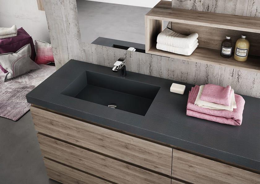 Sectional single vanity unit FREEDOM 10 by LEGNOBAGNO