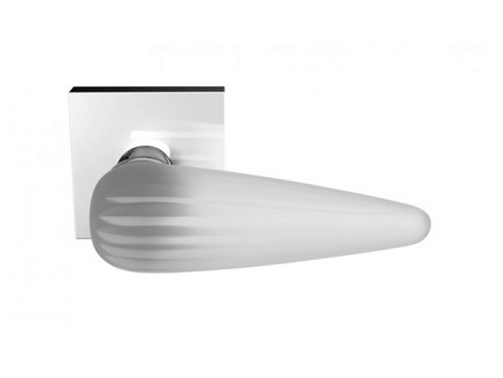 Crystal door handle with brushed finishing OKA HOME BRUSHED by Glass Design