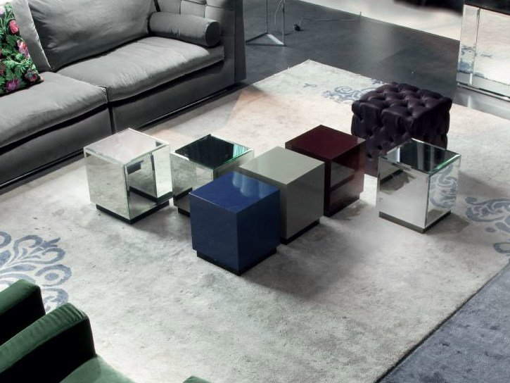 Low lacquered square coffee table CUBO by ERBA ITALIA