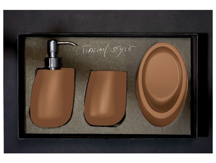 Countertop Vetro Freddo® soap dish KLEISS SET COGNAC by Glass Design