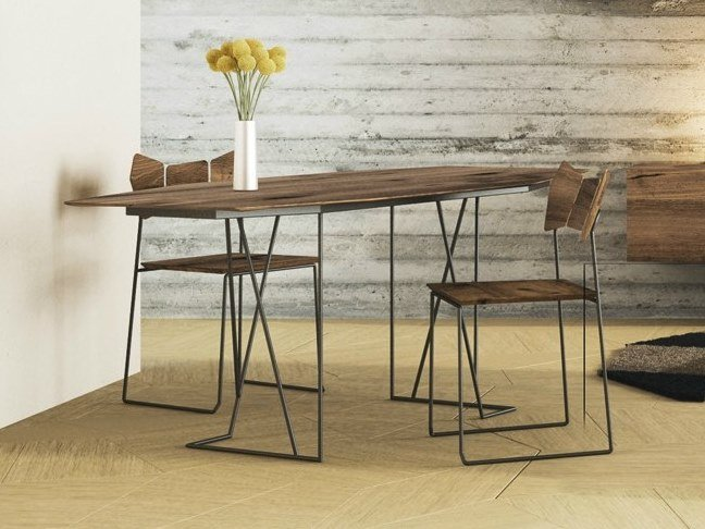 Steel and wood living room table KINOKI | Table by Lago