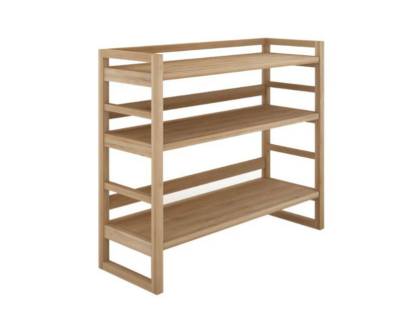 Open oak bookcase OAK SKELET | Bookcase by Ethnicraft