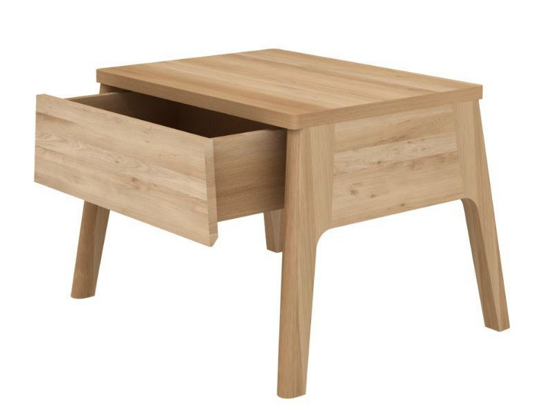 Rectangular oak bedside table with drawers OAK AIR | Bedside table by Ethnicraft