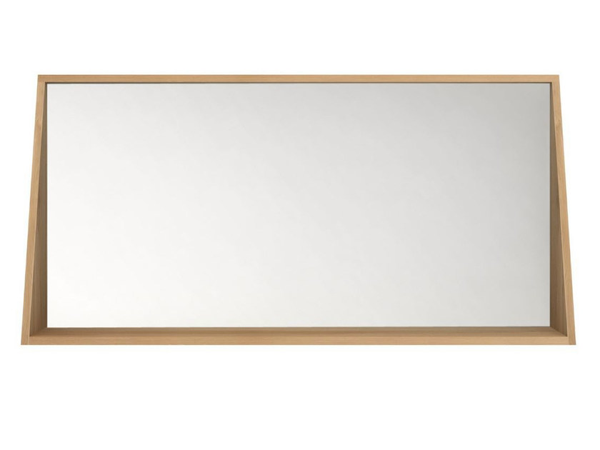 Wall-mounted framed bathroom mirror OAK QUALITIME | Mirror by Ethnicraft