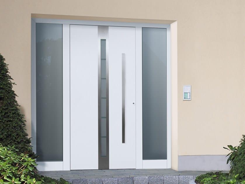 Porta d 39 ingresso blindata in acciaio con pannelli in vetro topsecur 2015 h rmann italia - Portoncini blindati da esterno con vetro ...
