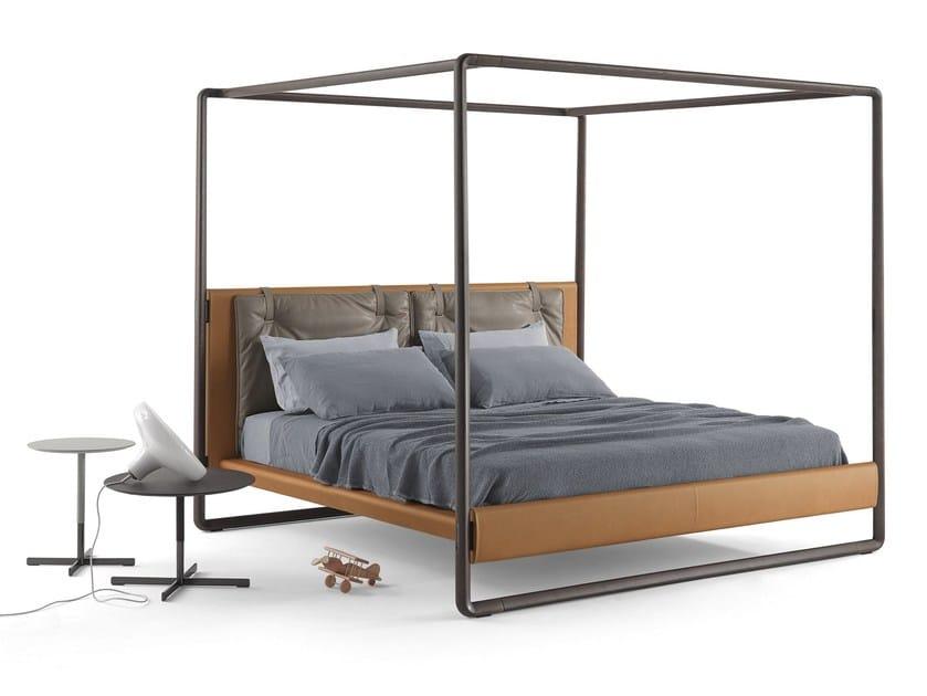 Canopy bed VOLARE By Poltrona Frau design Roberto Lazzeroni