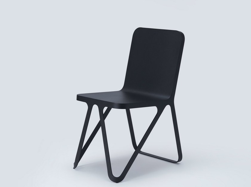 Powder coated steel chair LOOP CHAIR by NEO/CRAFT