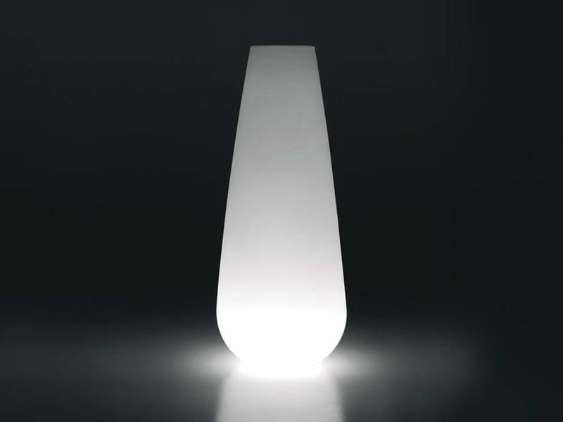 Polyethylene garden vase with Light BUBA LIGHT by Plust