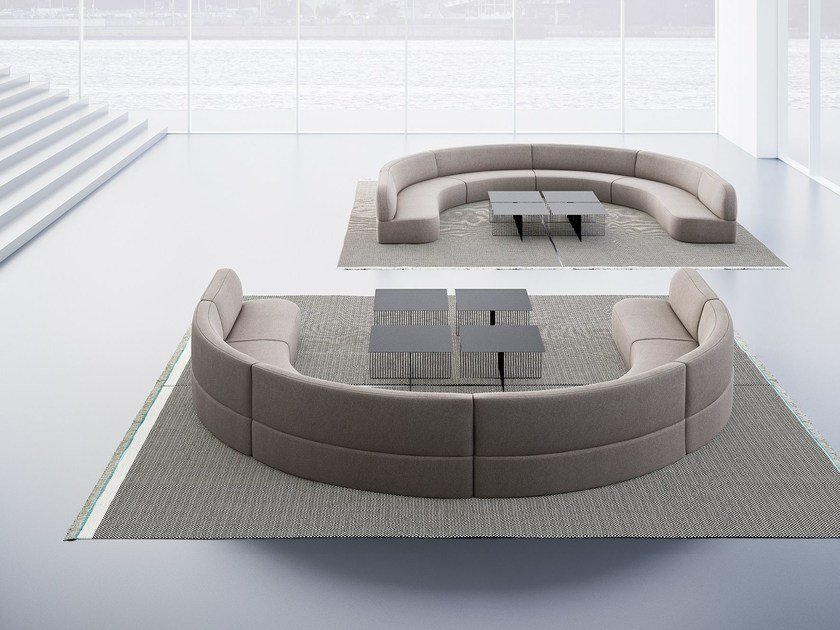 Curved Fabric Sofa Guest By La Cividina