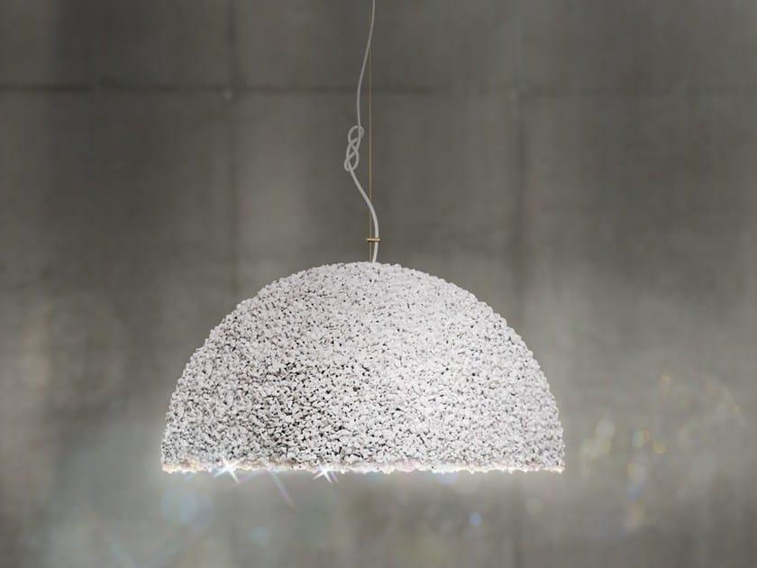 Pendant lamp with Swarovski® Crystals THE DUCHESS MEDIUM WHITE by Mammalampa