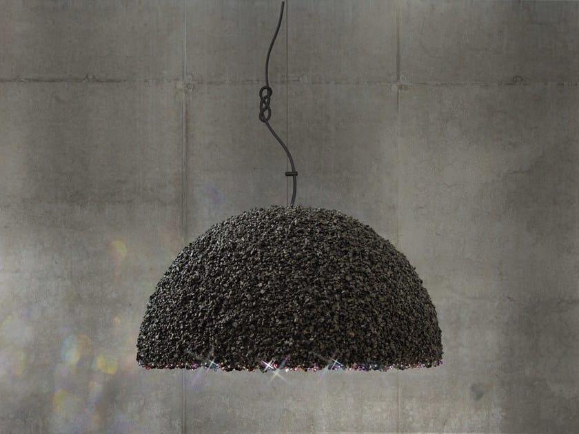 Pendant lamp with Swarovski® Crystals THE DUCHESS MEDIUM GRAY by Mammalampa