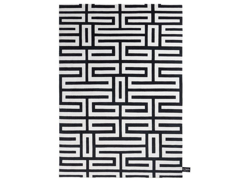 Rectangular rug with geometric shapes MAZE by cc-tapis