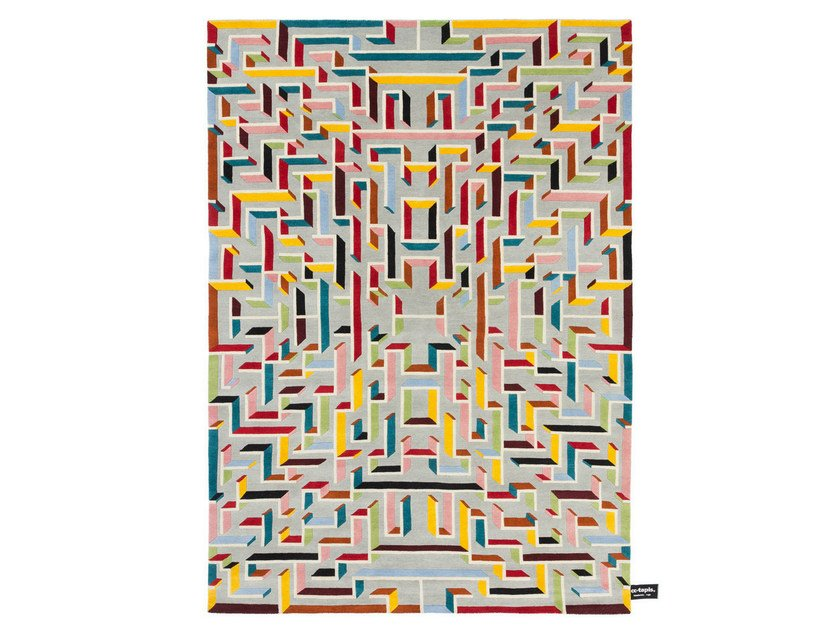 Handmade custom rug LOST IN THE FIFTIES by cc-tapis