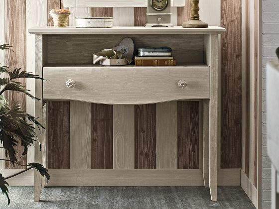 Rectangular wooden console table with drawers EVERY DAY | Console table by Callesella Arredamenti