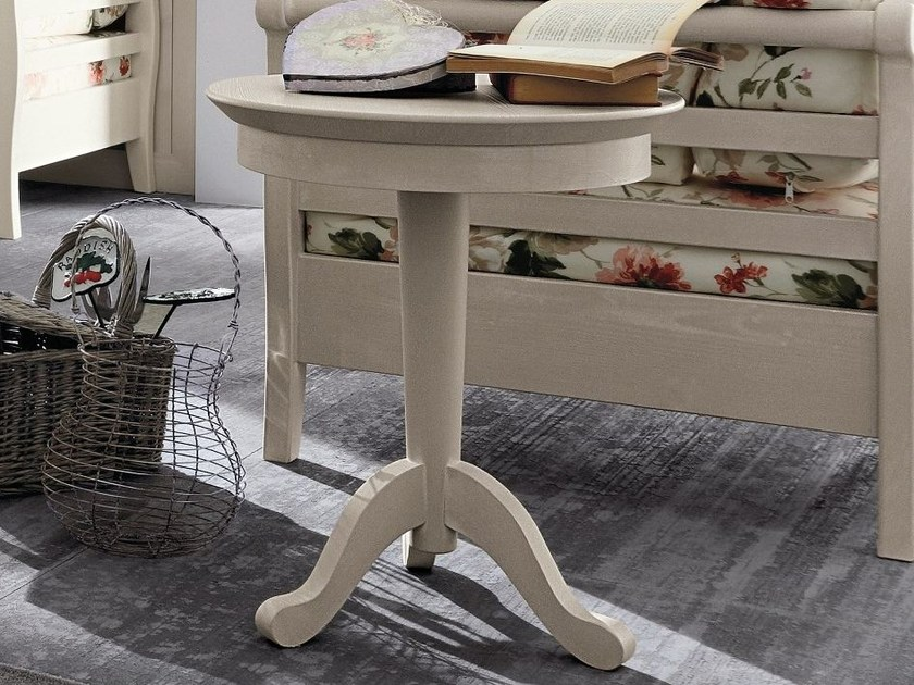 Round wooden coffee table for living room EVERY DAY | Coffee table by Callesella Arredamenti