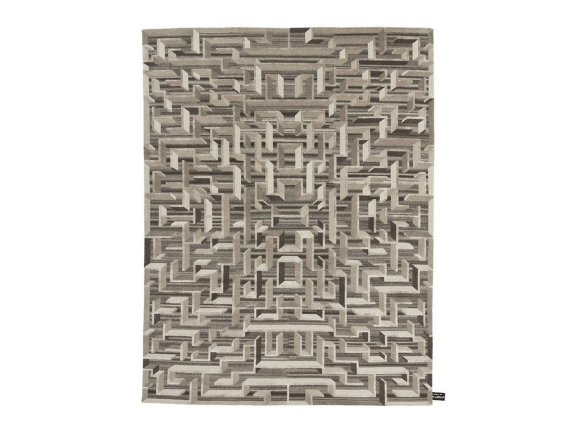Handmade custom rug LOST IN THE FIFTIES SOIE by cc-tapis