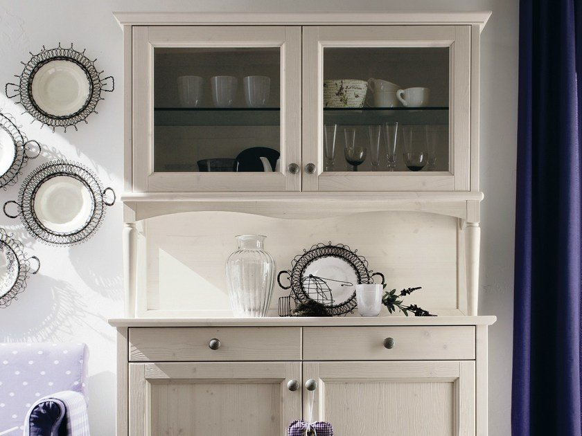 Wooden highboard with doors EVERY DAY | Highboard with doors by Callesella Arredamenti
