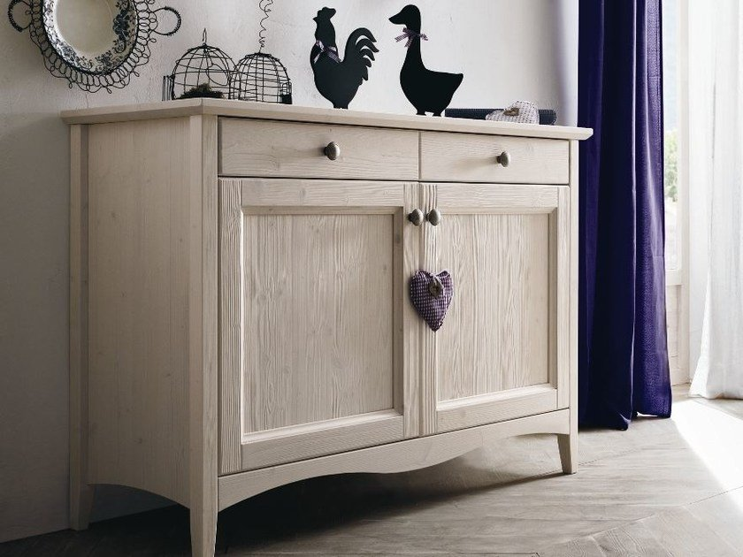 Wooden sideboard with doors EVERY DAY | Sideboard by Callesella Arredamenti