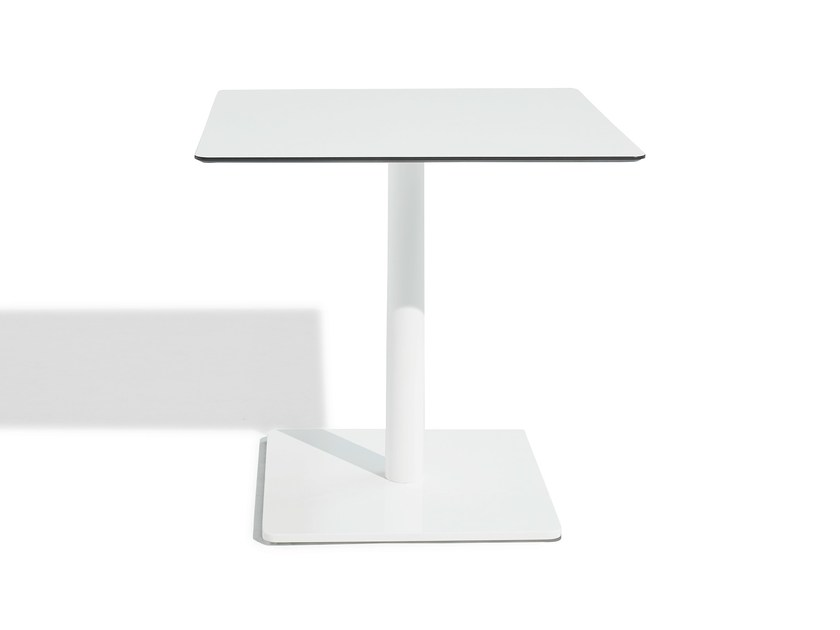 Round wood-product high table SIT | High table by Bivaq