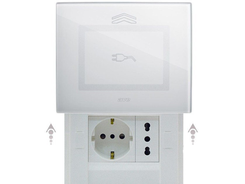 Glass electrical outlet DOMUS TOUCH | Electrical outlet by AVE
