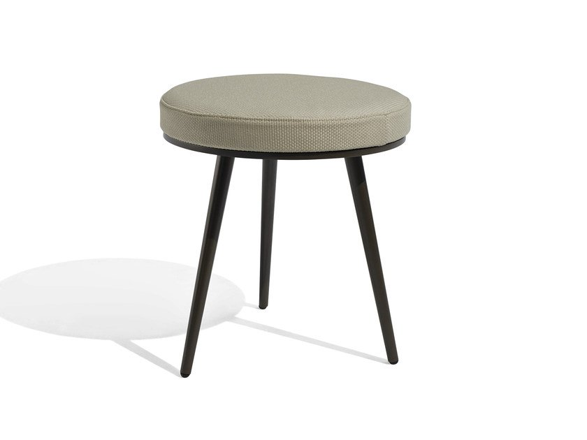 Low upholstered fabric garden stool VINT | Stool by Bivaq