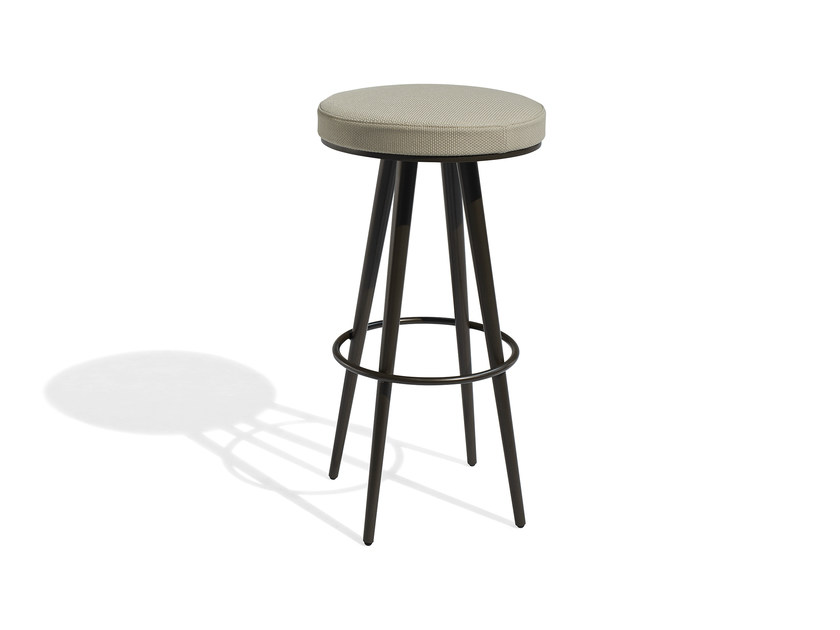 High fabric garden stool with footrest VINT | High stool by Bivaq