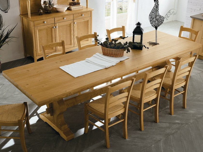 Rectangular wooden dining table EVERY DAY | Rectangular table by Callesella Arredamenti