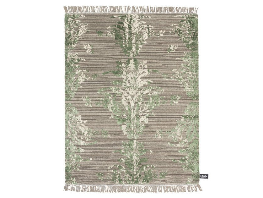 Patterned rectangular rug TRACES DE DAMASK by cc-tapis