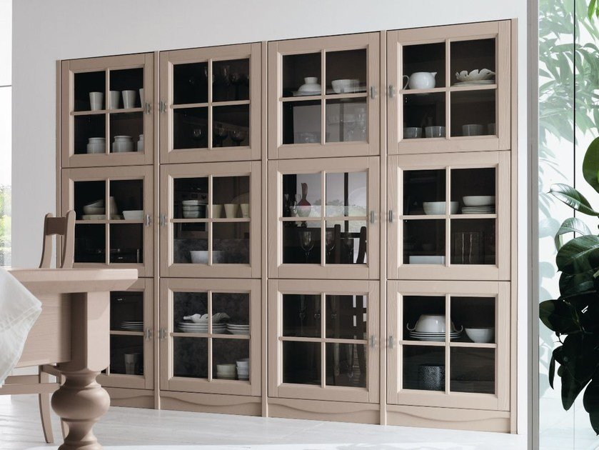 Wooden display cabinet EVERY DAY | Display cabinet by Callesella Arredamenti