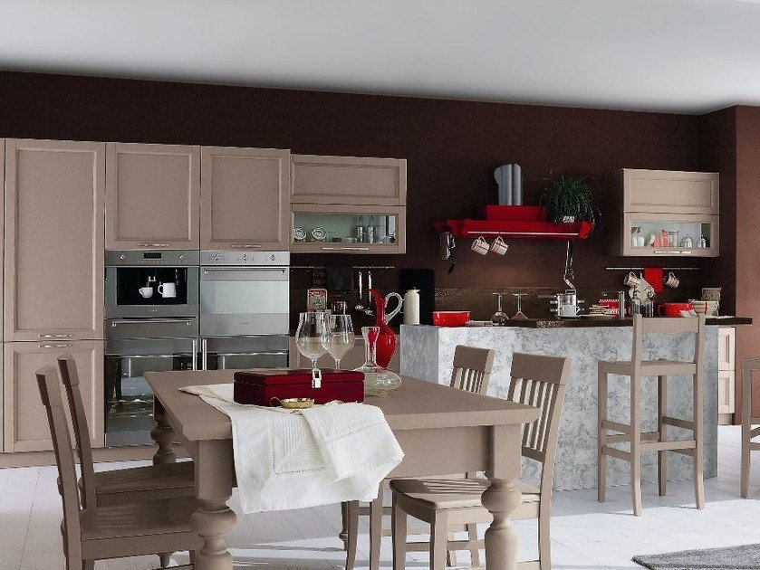 Wooden kitchen with island EVERY DAY | Kitchen with island by Callesella Arredamenti