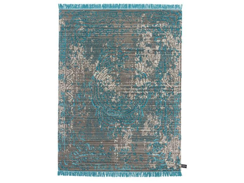 Handmade custom rug TRACES D'AUBUSSON DARK by cc-tapis
