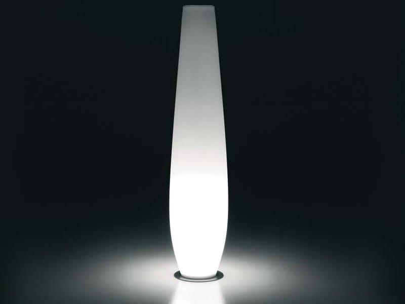 Polyethylene garden vase with Light NICOLE LIGHT by Plust