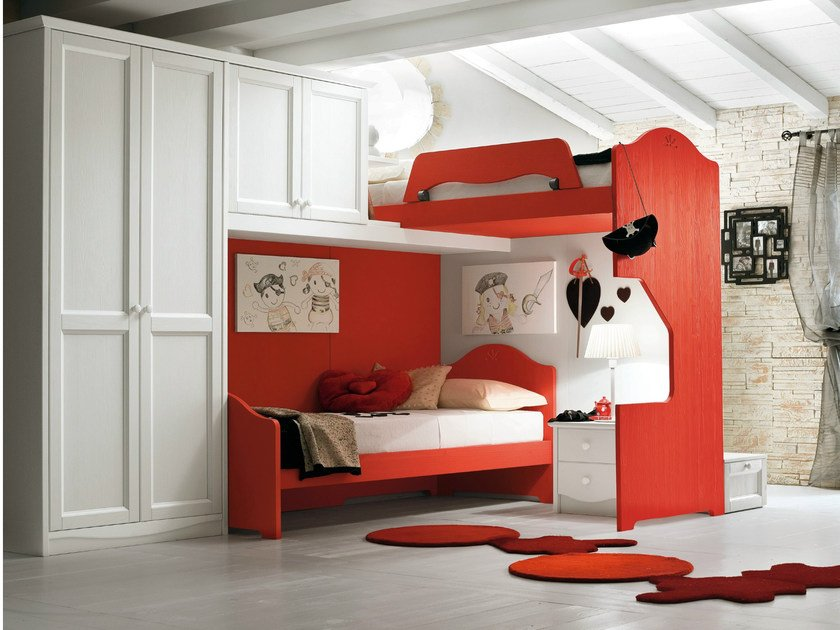 Loft wooden teenage bedroom EVERY DAY NIGHT | Composition 12 by Callesella Arredamenti