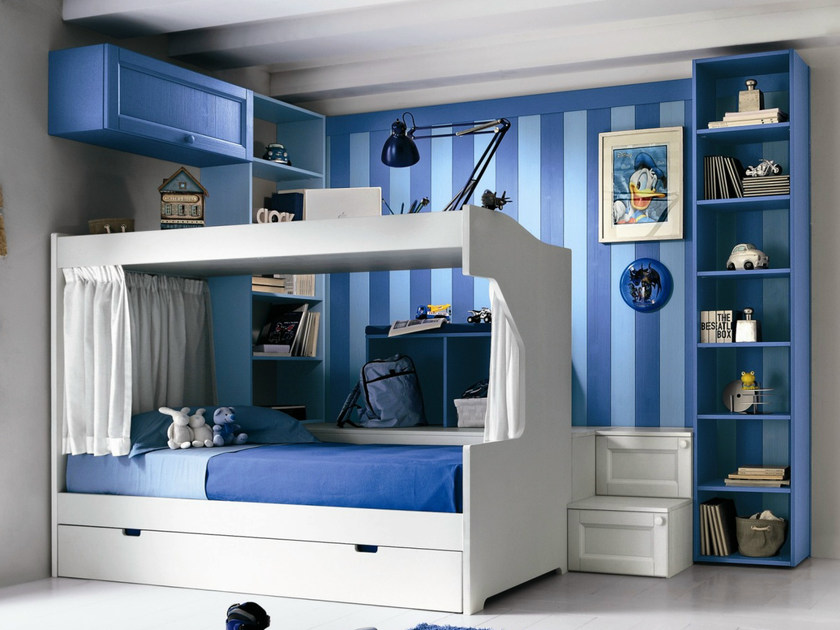 Wooden teenage bedroom EVERY DAY NIGHT | Composition 13 by Callesella Arredamenti