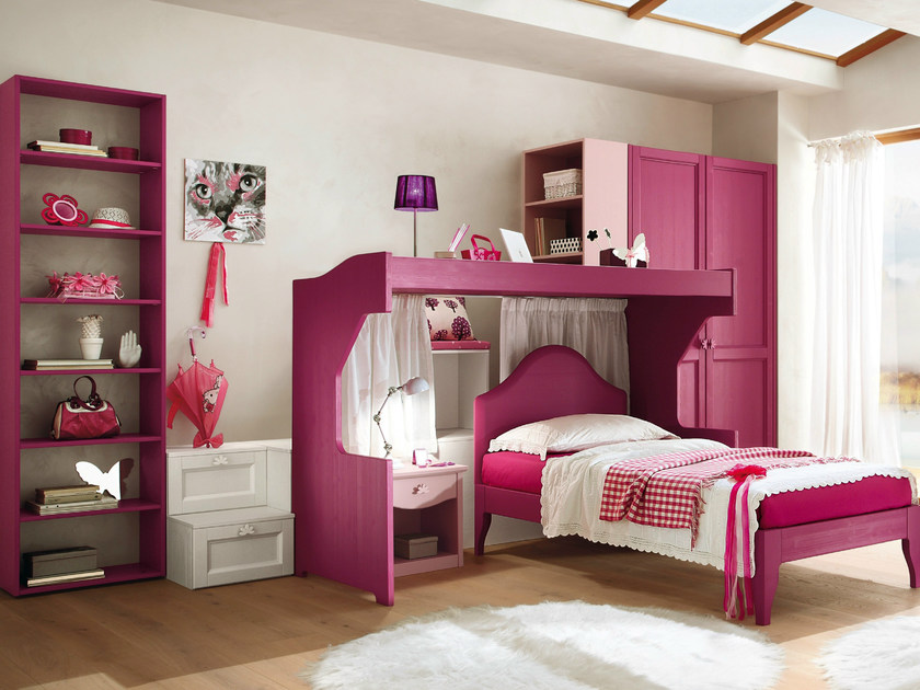 Wooden teenage bedroom EVERY DAY NIGHT | Composition 14 by Callesella Arredamenti
