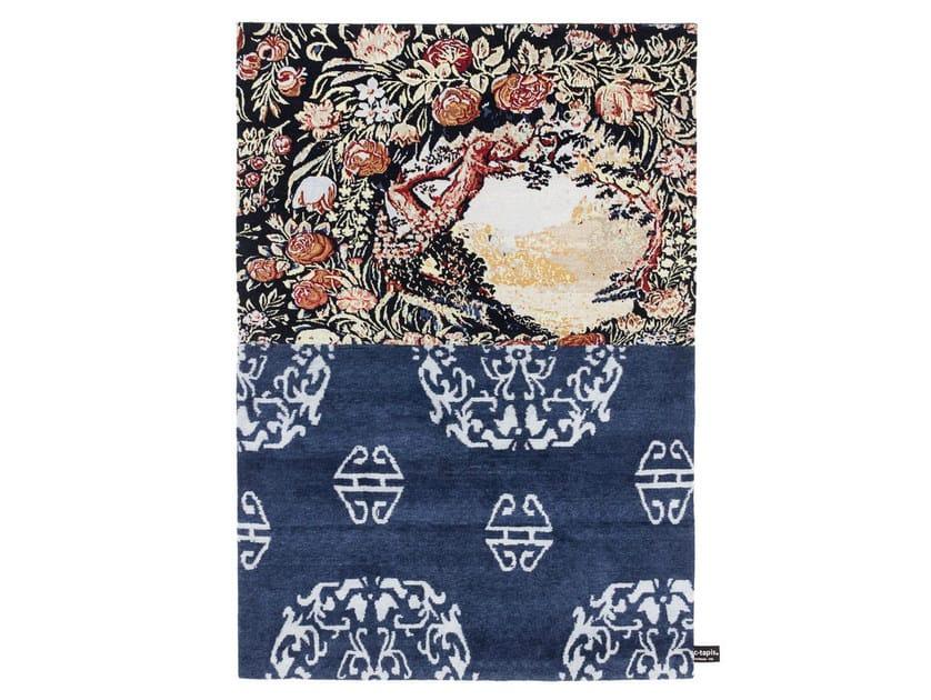 Handmade custom rug CROSS(ME)NOT B by cc-tapis